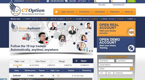 CTOption Website