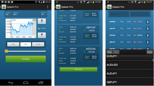 Opteck Mobile App For Trading