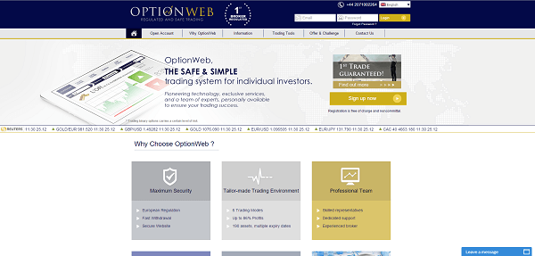 OptionWeb Website