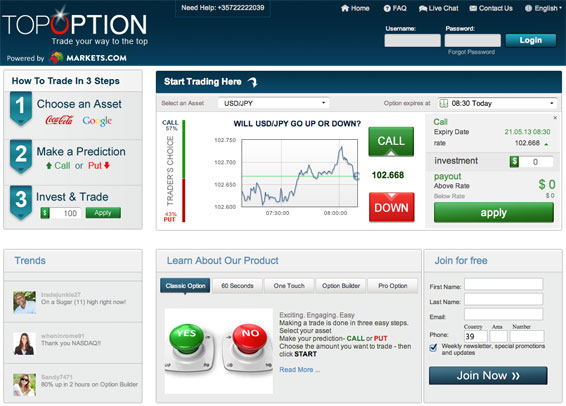 TopOption Trading Platform